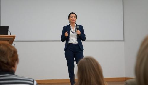 Während einer Rede